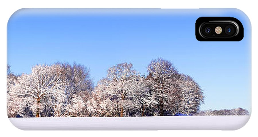 Snow IPhone X Case featuring the photograph Snow Panoramic Landscape by Richard Thomas