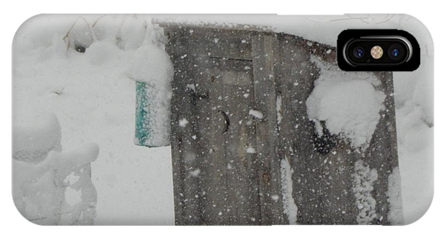 Snow IPhone X Case featuring the photograph Snow Storm In The Country by Kim Galluzzo Wozniak