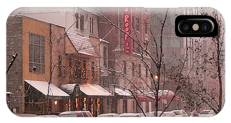 Chicago Illinois IPhone X Case featuring the photograph Snow Time by David Bearden