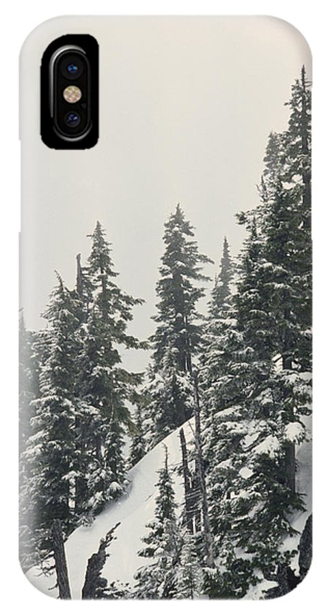 Color Image IPhone X Case featuring the photograph Snowy Ridge Near Snoqualmie Pass by Gordon Wiltsie