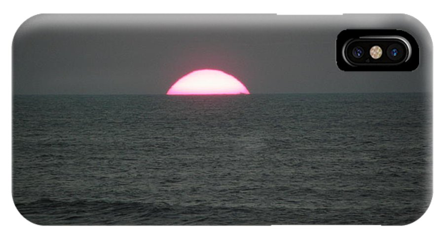 Sunrise IPhone X Case featuring the photograph So Powerful by Kim Galluzzo Wozniak