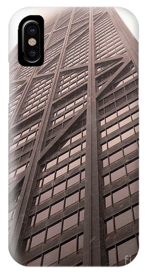 John Hancock Building IPhone X Case featuring the photograph Soaring Hancock by David Bearden
