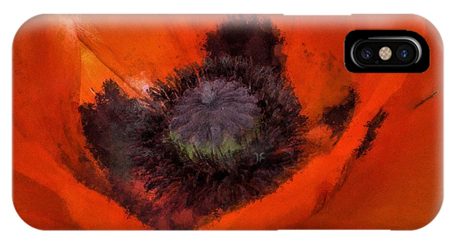 Poppy IPhone X / XS Case featuring the painting Soft Dreamy Poppy by Barbara Thorvilson
