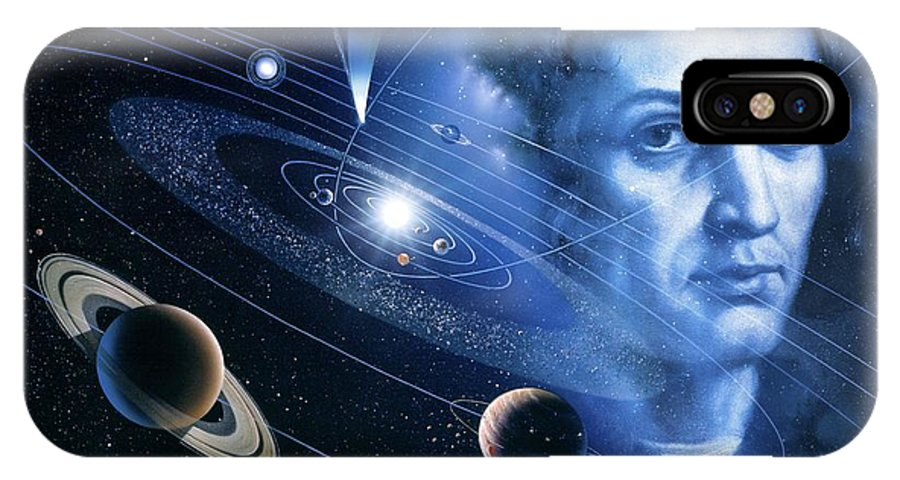 Mercury IPhone X / XS Case featuring the photograph Solar System And Nicolaus Copernicus by Detlev Van Ravenswaay
