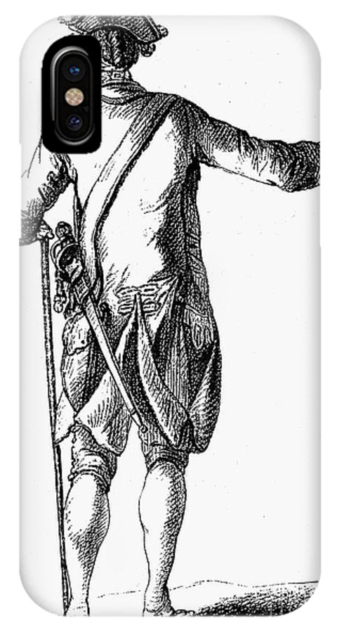 18th Century IPhone X Case featuring the photograph Soldier, 18th Century by Granger
