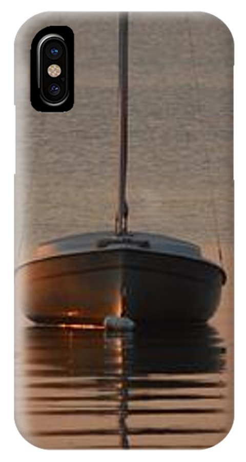 Beach IPhone X Case featuring the photograph Solitary Sailboat by William Bartholomew