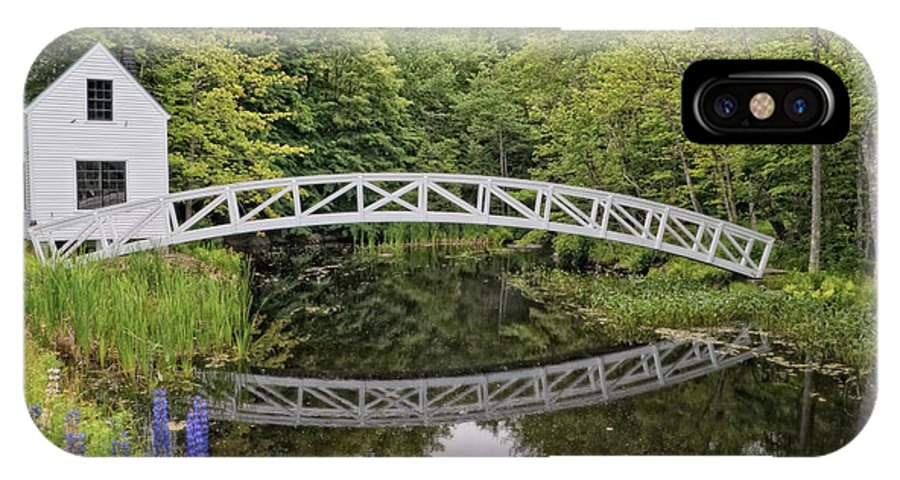 Somesville IPhone X Case featuring the photograph Somes Bridge by Anne Kitzman