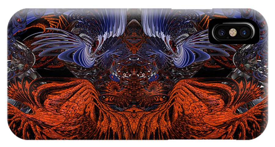 Canvas IPhone X Case featuring the digital art Something From Below B7 Fx by G Adam Orosco