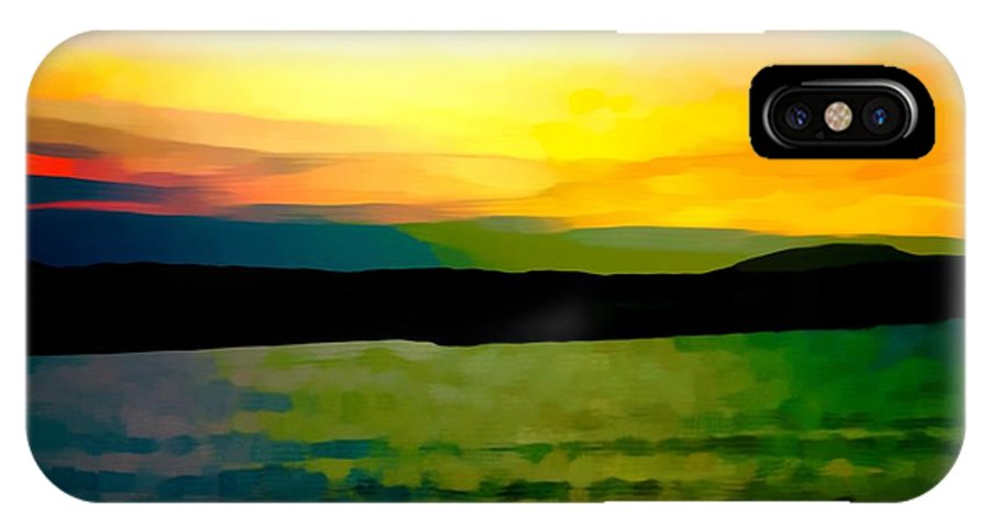 Photographs IPhone X Case featuring the photograph Son Parc Sunset by John Colley