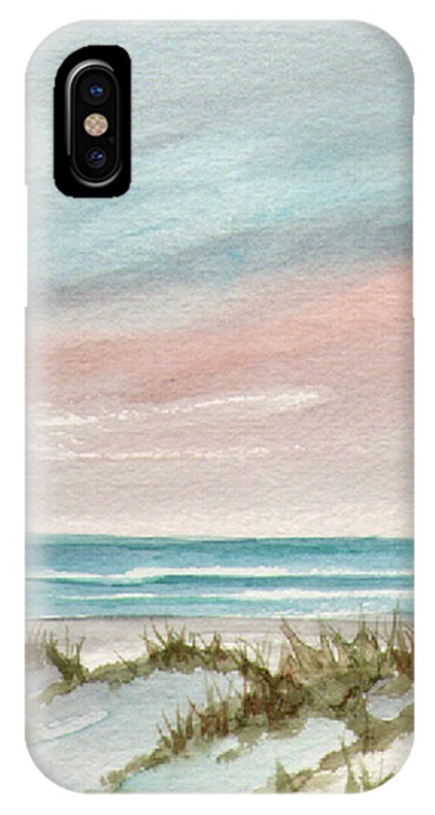 Seascape IPhone X Case featuring the painting Soothing Sunset by Rosie Brown