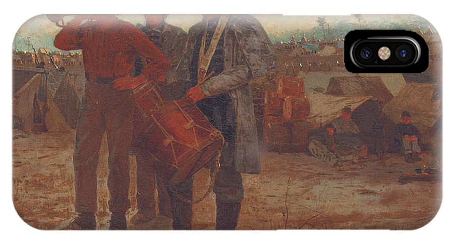 Sounding Reveille IPhone X Case featuring the painting Sounding Reveille by Winslow Homer