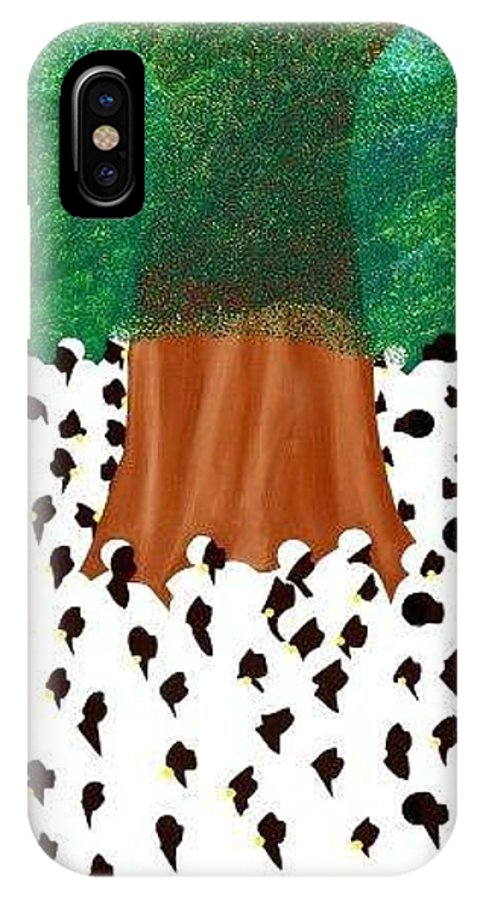 Haiti IPhone X Case featuring the painting Souvenance by Synthia SAINT JAMES