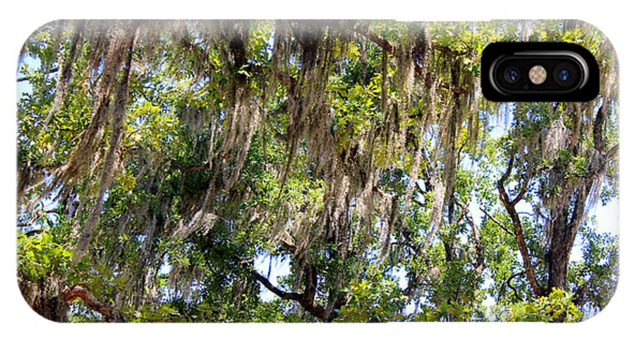 Spanish Moss IPhone X Case featuring the photograph Spanish Moss by Kathy White