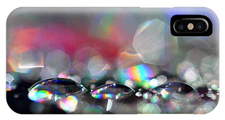 Sparks IPhone X Case featuring the photograph Sparks by Sylvie Leandre