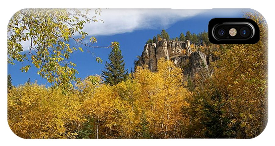 Spearfish IPhone X Case featuring the photograph Spearfish Canyon Fortress In Rock by Dakota Light Photography By Dakota