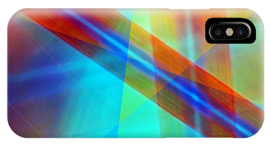 Light Canvas Prints IPhone X Case featuring the digital art Spectrum Correction by Marie Jamieson