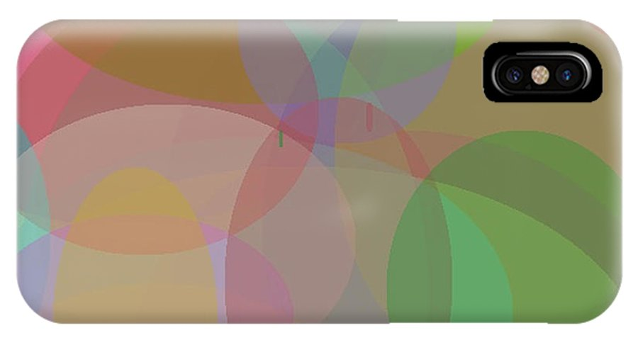 Colorful IPhone X / XS Case featuring the painting Spheres by Naomi Jacobs