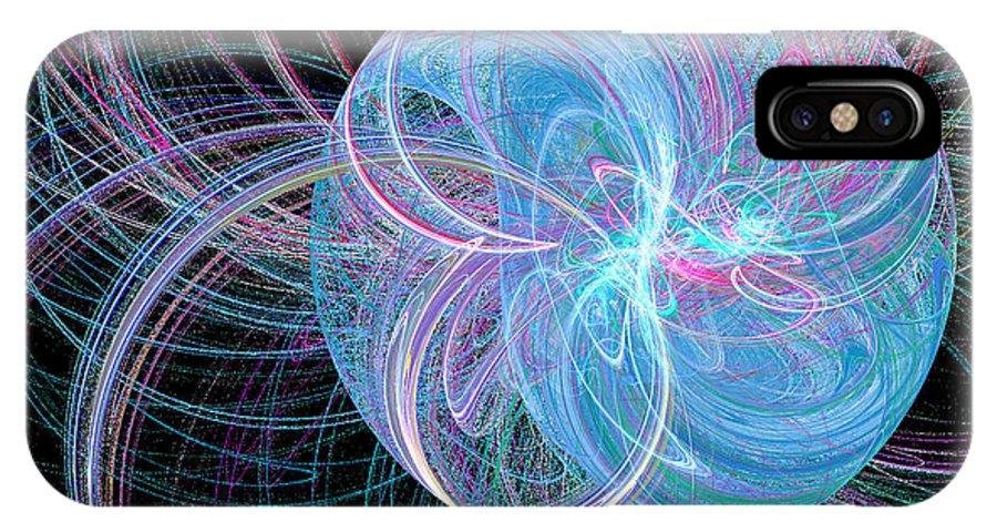 Apophysis IPhone X Case featuring the digital art Spherical Symphony by Kim Sy Ok