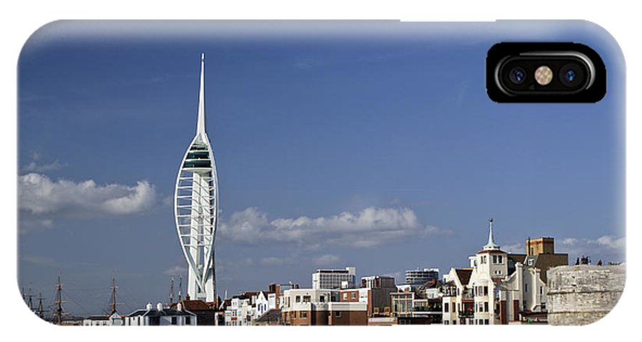 Portsmouth IPhone X Case featuring the photograph Spinnaker Tower And Round Tower Portsmouth by Gary Eason