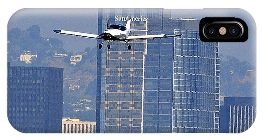 Sports Cruiser Airplane IPhone X Case featuring the photograph Sports Cruiser Arrival by Fraida Gutovich