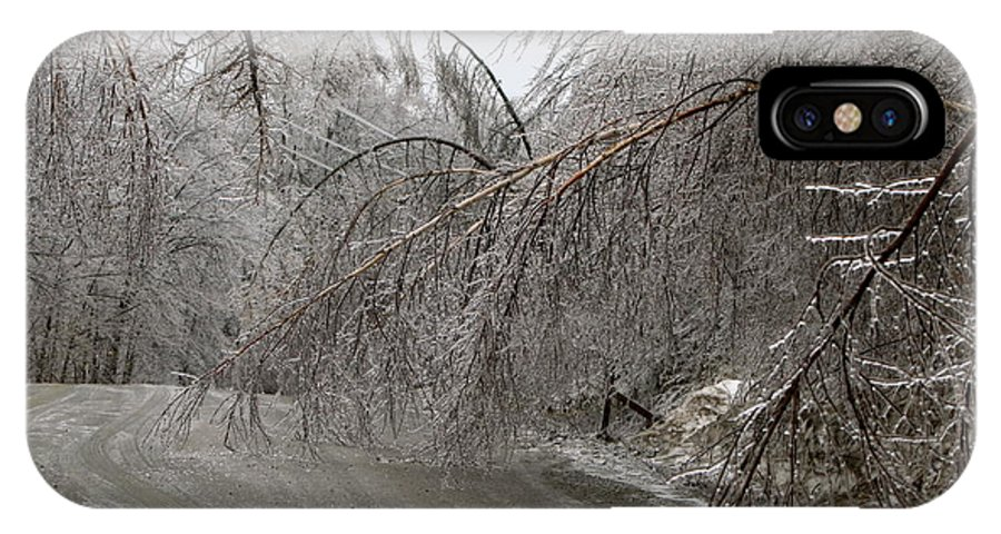 Ice IPhone X Case featuring the photograph Spring Ice Storm by Gord Patterson
