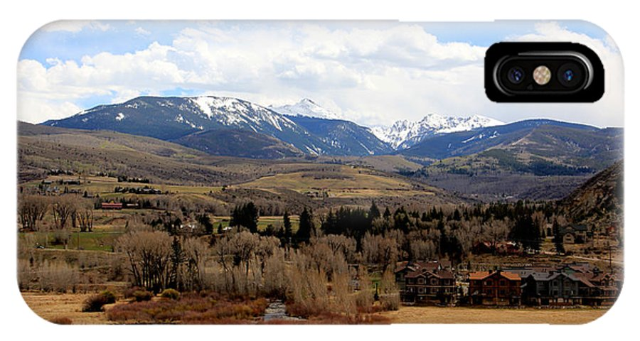 Landscape IPhone X Case featuring the photograph Spring In The Rockies by Brenda Deem