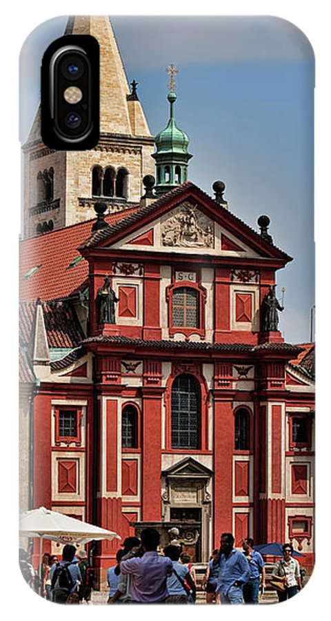 Bauwerke IPhone X Case featuring the photograph St. Georgs Basilika by Joerg Lingnau