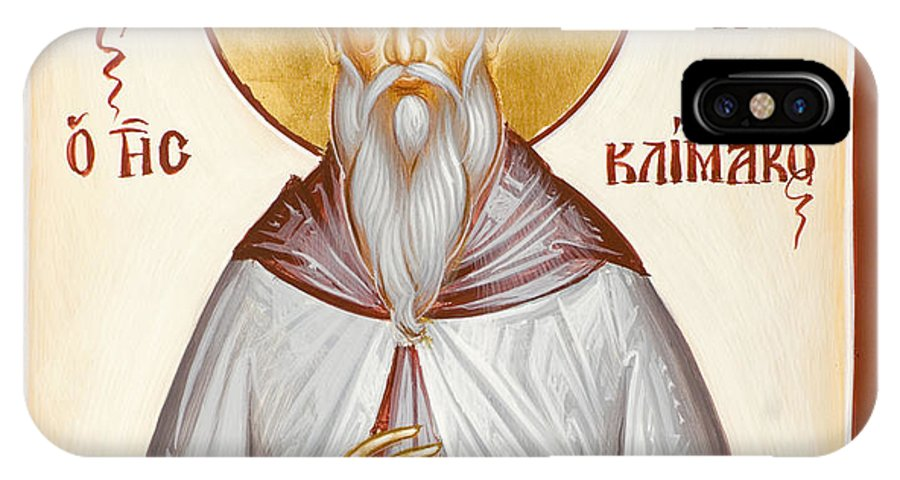 St John Climacus IPhone X Case featuring the painting St John Climacus by Julia Bridget Hayes