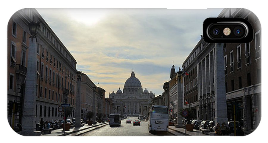Rome IPhone X / XS Case featuring the photograph St Peter's Basilica by Rich Bodane