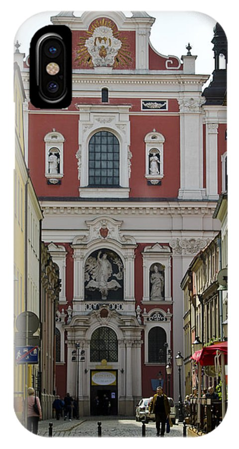 Posnan IPhone X Case featuring the photograph St Stanislaus Church Exterior by Jon Berghoff