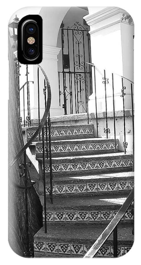 Stairs IPhone X Case featuring the photograph Stairway by Arthur Herold Jr