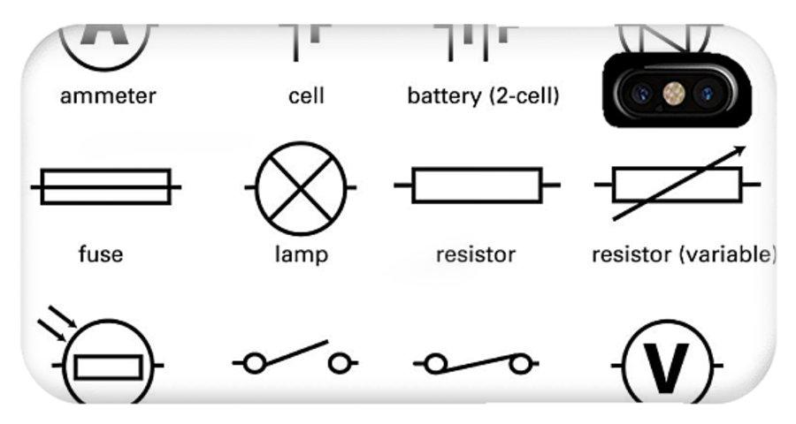 standard electrical circuit symbols iphone x case for sale by sheila rh fineartamerica com