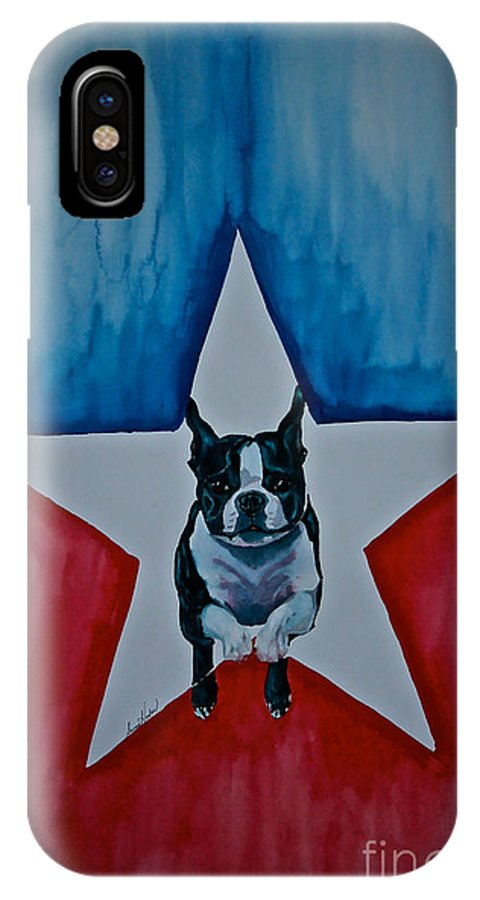 IPhone X Case featuring the painting Star Appeal 3 by Susan Herber