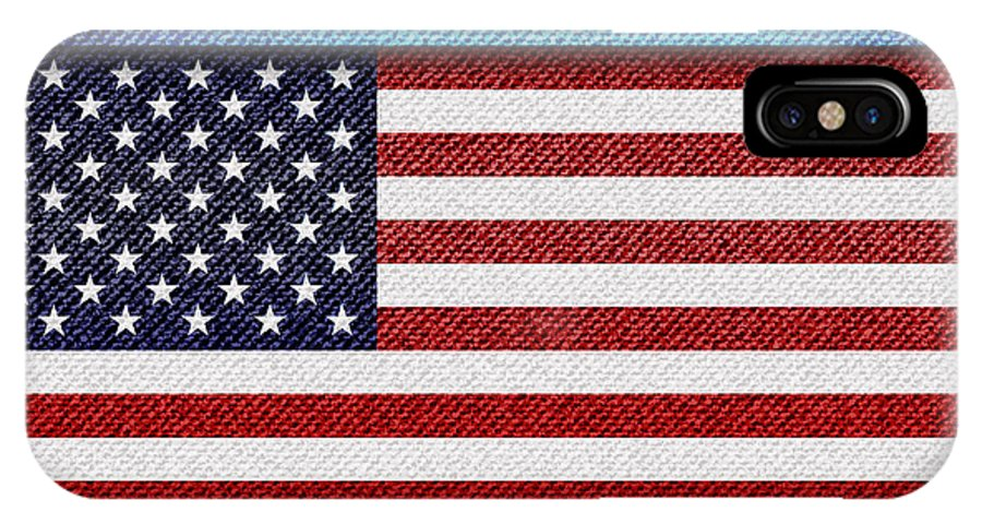 Background IPhone X Case featuring the photograph Stars And Stripes Denim by Jane Rix