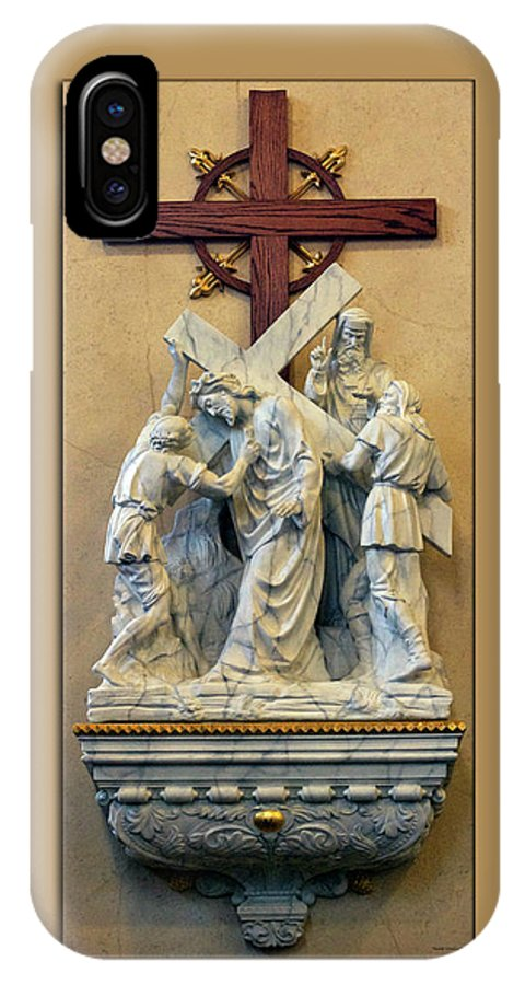 Statue IPhone X Case featuring the photograph Station Of The Cross 05 by Thomas Woolworth