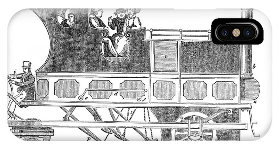 Gordon IPhone X / XS Case featuring the photograph Steam Coach by Science, Industry & Business Librarynew York Public Library