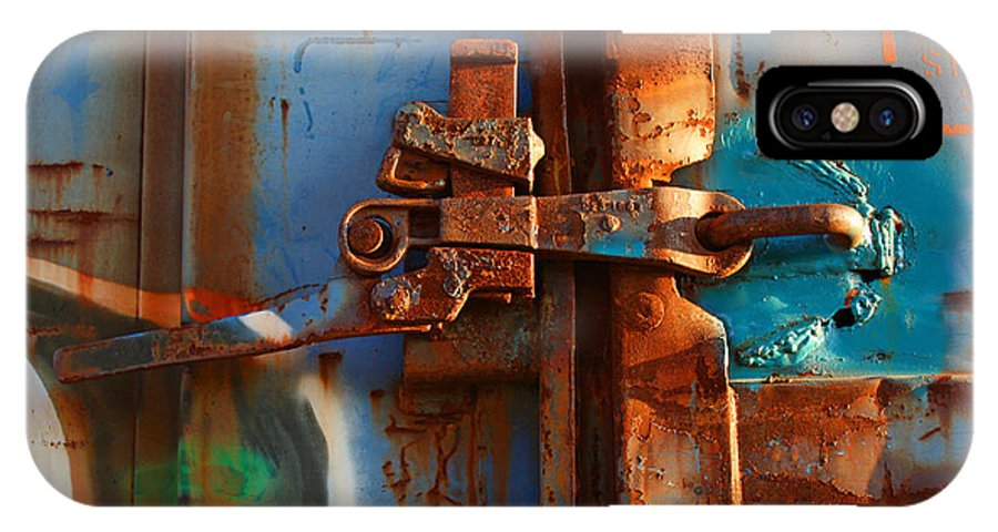 Trains IPhone X Case featuring the photograph Steel Blues by Ted M Tubbs