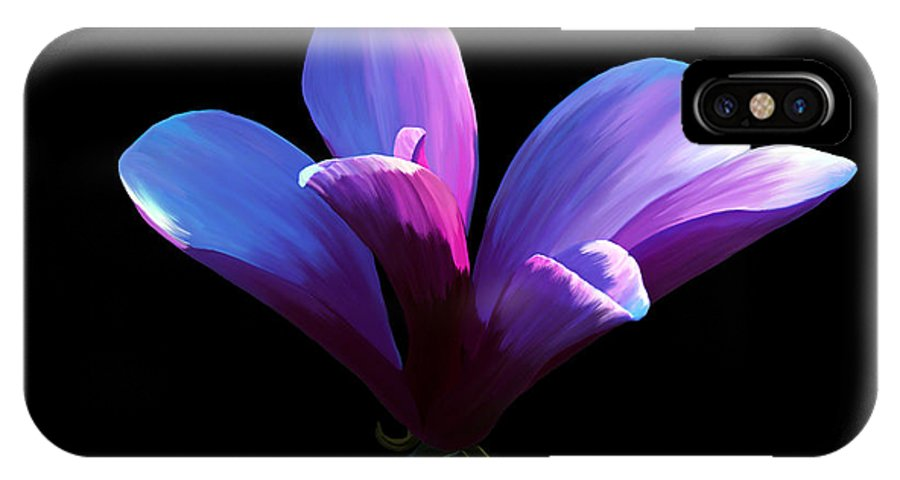 Fine Art Print IPhone X Case featuring the painting Steel Magnolia by Patricia Griffin Brett