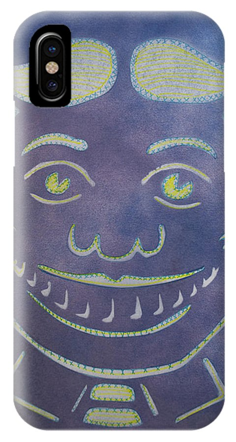 Tillie Of Asbury Park IPhone X Case featuring the painting Stitches Tillie by Patricia Arroyo