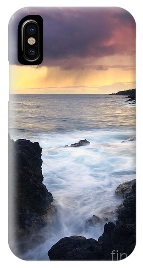 Fissure IPhone X Case featuring the photograph Storm Fissure by Mike Dawson