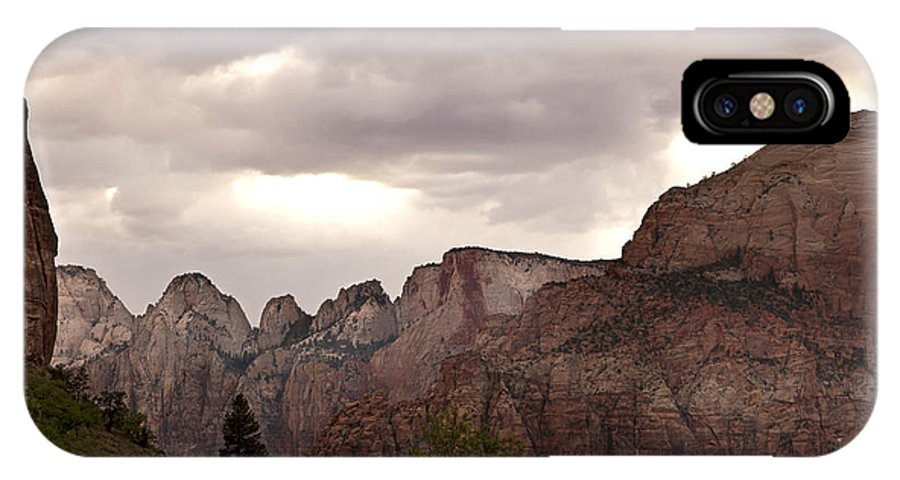 America IPhone X Case featuring the photograph Storm In Zion by Jane Rix
