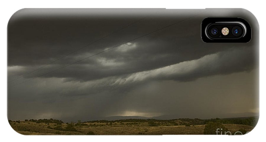 Prairie IPhone X Case featuring the photograph Storm On The Front Range by Tim Mulina