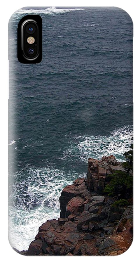 Maine IPhone X Case featuring the photograph Straight Down by Skip Willits