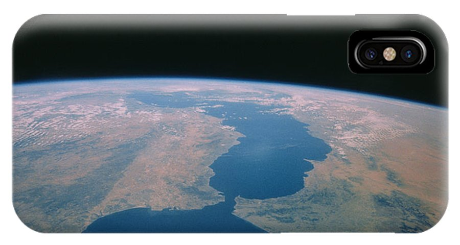 Strait Of Gibraltar IPhone X Case featuring the photograph Strait Of Gibraltar From Space Shuttle by Nasa