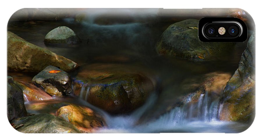 Water IPhone X Case featuring the photograph Stream by Leonard Sharp
