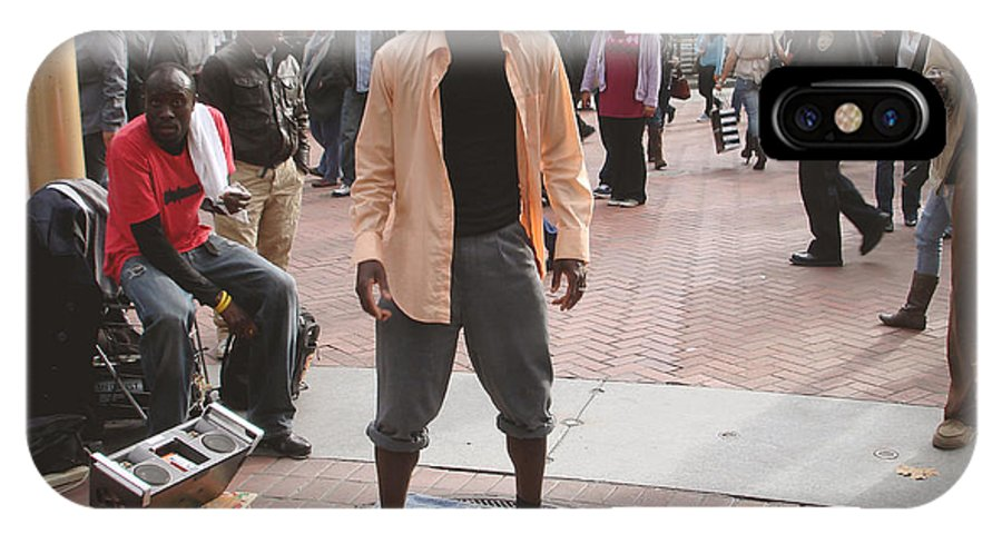 African American Man IPhone X Case featuring the photograph Street Tap Dancers No. One by Hiroko Sakai