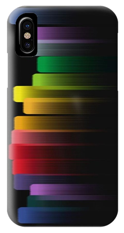 Color IPhone X Case featuring the digital art Stripe by Eric Weeber