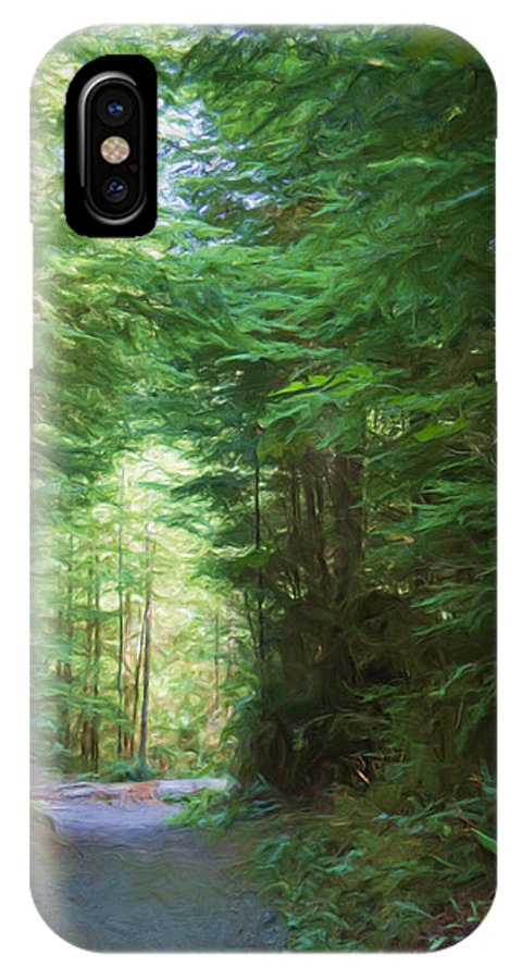 Quinault IPhone X Case featuring the photograph Stroll Through The Quinault Rain Forest by Heidi Smith