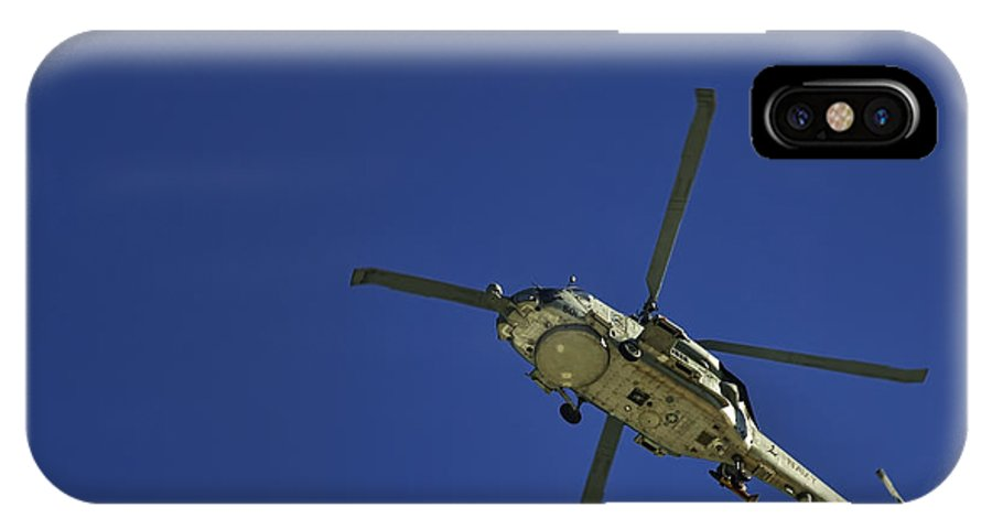 Navy Helicopter IPhone X / XS Case featuring the photograph Sub Hunter On The Prowl by Frank Feliciano