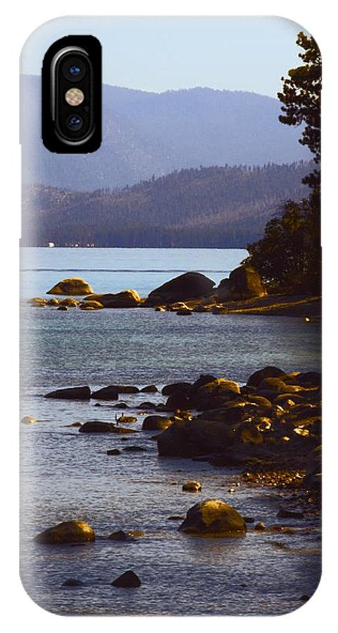Lake Tahoe IPhone X Case featuring the photograph Sugar Pine Point Beach by Linda Dunn